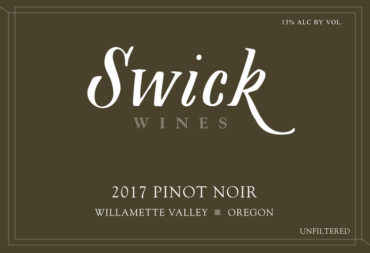 Swick Willamette Valley Pinot Noir - 2017
